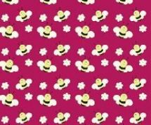 Fabric Freedom Camping - 4252 - Bumblebees on Red - FF93-2 - Cotton Fabric